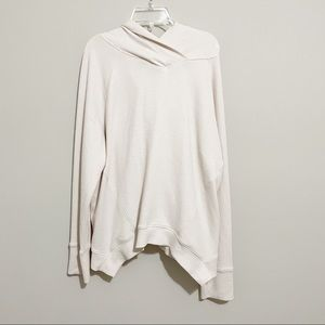 Prana Ivory Cozy Pullover Hoodie Sweater Size L